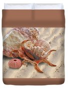 Spider Conch Shell On The Beach Duvet Cover
