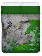 Spider In Thin Air Duvet Cover