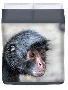 Spider Monkey Face Closeup Duvet Cover