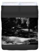 Spider Web Black White Duvet Cover