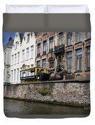 Spieglerei Canal In Bruges Belgium Duvet Cover