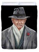 Spiffy Old Man Duvet Cover
