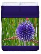 Spiky Blue Duvet Cover