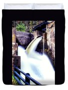 Spillway On The Canal Duvet Cover