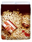 Spilt Tubs Of Popcorn And Movie Tickets Duvet Cover