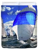 Spinnakers And Sails By Kaye Menner Duvet Cover