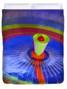 Spinning Fair Ride Duvet Cover
