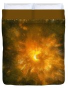 Spinning Firecracker And Bright Colors Duvet Cover