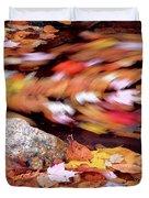 Spinning Leaves Of Autumn Duvet Cover