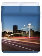 Spinning Swing Chair Carnival Rides Long Exposure Duvet Cover