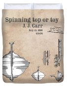 Spinning Top Or Toy Patent Art Duvet Cover