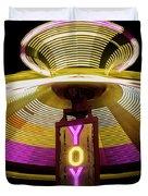 Spinning Yoyo Ride Duvet Cover
