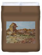 Spinx In The Valley Of Fire Duvet Cover