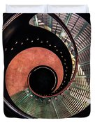 Spiral Glass Stairs Duvet Cover