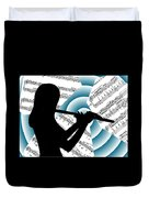 Spiral Music Duvet Cover