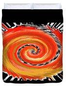 Spiral Of Fire Duvet Cover