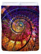 Spiral Spacial Abstract Square Duvet Cover