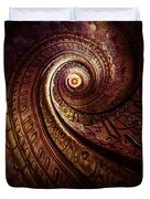 Spiral Staircase In An Old Abby Duvet Cover