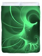 Spiral Thoughts Green Duvet Cover