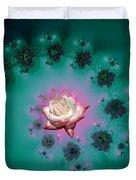 Spiral To A Rose Fractal 140 Duvet Cover