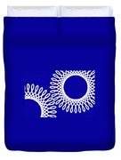 Spirals With Blue Duvet Cover