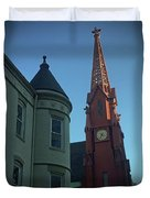 Spire Of Chinatown Duvet Cover