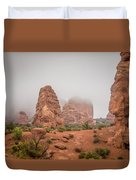 Spires In The Mist Duvet Cover