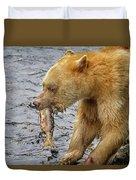 Spirit Bear Take Out  9636 Duvet Cover