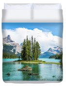 Spirit Island, Jasper National Park Duvet Cover