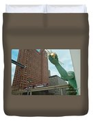 Spirit Of Detroit And People Mover Duvet Cover