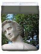 The Spirit Of Nursing Statue Up Close Duvet Cover