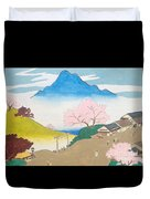 Spirit Of Shinto And Ukiyo-e In The Light Of Nature Duvet Cover