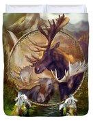 Spirit Of The Moose Duvet Cover