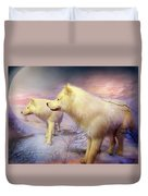 Spirit Of The White Wolf Duvet Cover