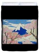 Spirit Of Ukiyo-e Illuminated By Stunning Nature Duvet Cover
