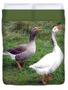 Spirited Geese Duvet Cover