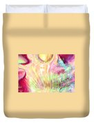 Spirits Of The Sun Duvet Cover by Linda Sannuti
