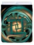 Spiritual Art - Healing Labyrinth By Rgiada Duvet Cover