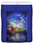 Spiritual Rising At Sunset Duvet Cover