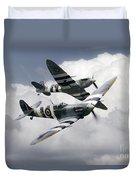 Spitfire Flying Legends Duvet Cover