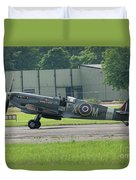 Spitfire On The Ground Duvet Cover