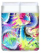 Splash Of Color Abstract Duvet Cover