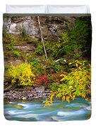 Splash Of Color Along The Creek Duvet Cover