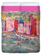 Splash Of Happy On A Hot City Day Duvet Cover