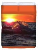 Splash - Sunset On Lake Huron Duvet Cover