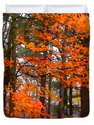 Splashes Of Autumn Duvet Cover