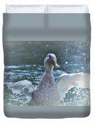 Splashing Duck Duvet Cover
