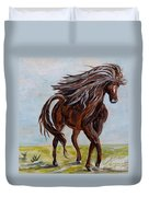 Splashing The Light - A Young Horse Duvet Cover