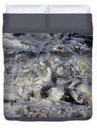 Splashy Incantations Of A Momenary Water Sculpture Duvet Cover