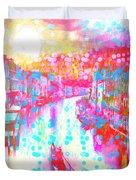 Splat In Italian Silk Duvet Cover